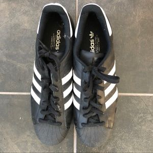 Men's classic ADIDAS black and white sneakers